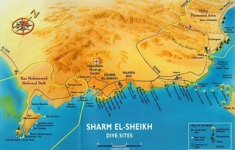Karte ägypten Sharm El Sheikh.Sharm El Sheikh Tauchen
